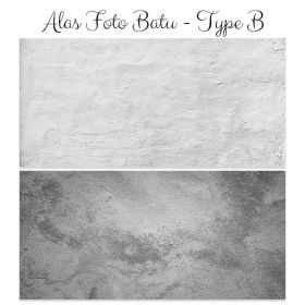 Alas Foto Background Backdrop Studio Motif Batu - Type B