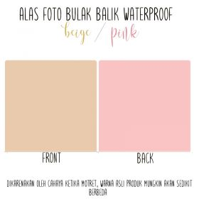 Alas Foto Polos Background Backdrop Studio Waterproof - Beige Pink