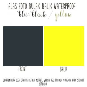 Alas Foto Polos Background Backdrop Studio Waterproof - Biru Hitam Kuning