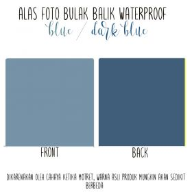 Alas Foto Polos Background Backdrop Studio Waterproof - Biru Tua Biru
