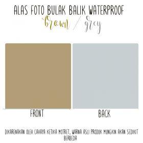 Alas Foto Polos Background Backdrop Studio Waterproof - Coklat Abu
