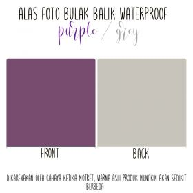 Alas Foto Polos Background Backdrop Studio Waterproof - Ungu Abu