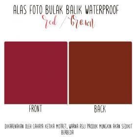 Alas Foto Polos Background Backdrop Studio Waterproof - Merah Coklat