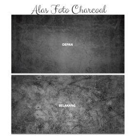 Alas Foto Background Backdrop Studio Motif Batu - Type Charcoal