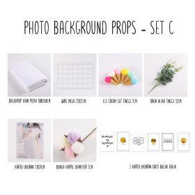 Background alas foto produk studio - Set C