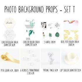 Background alas foto produk studio - Set T