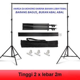 Tiang Backdrop Stand Background Mini Studio Foto Bracket Stand 2x2m